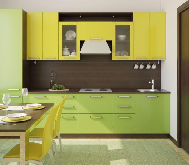 Kuchy a kuchynsk skrinky kuchynsk linky horn skrinky - Cuisine provena ale jaune et verte ...